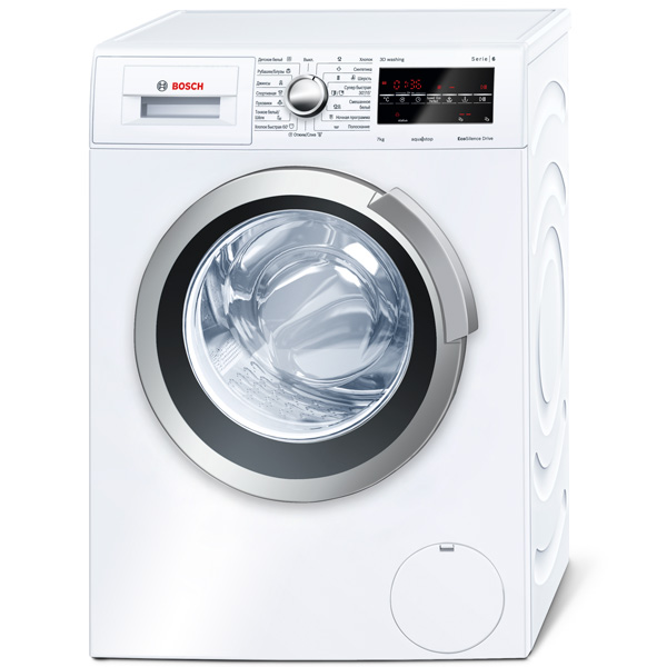 Стиральная машина узкая Bosch Serie 6 3D Washing WLT24440OE встраив газовая панель bosch serie 6 pch6a5m90r