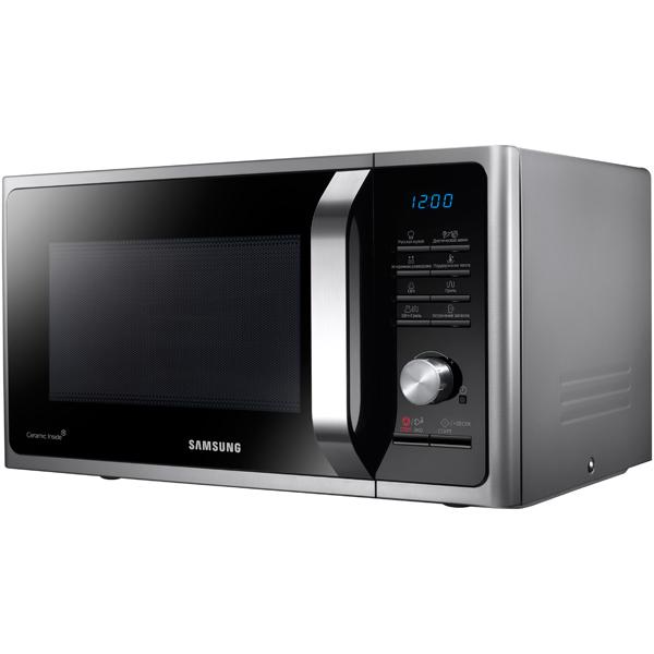 Микроволновая печь с грилем Samsung MG23F302TQS микроволновые печи samsung микроволновая печь с грилем ge83krs 3 серебристый