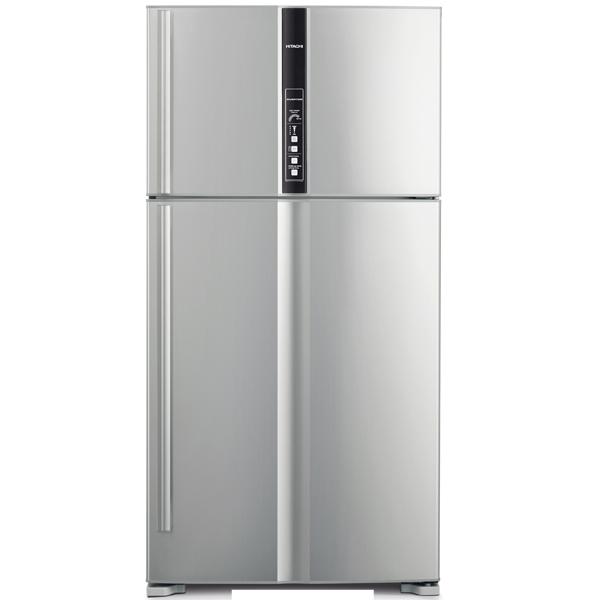 Холодильник с верхней морозильной камерой широкий Hitachi R-V 722 PU1 SLS
