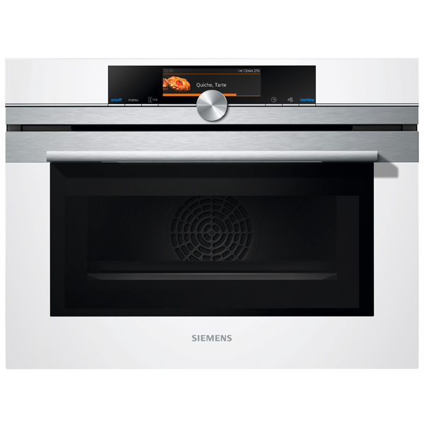 Встраиваемый компактный духовой шкаф Siemens CM678G4W1 siemens cm 678 g4 w1
