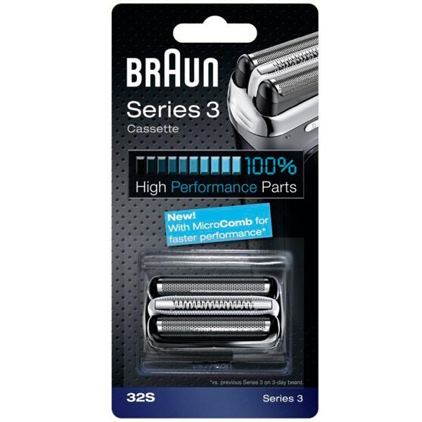 Сетка и режущий блок для электробритвы Braun Series 3 32S MicroComb аксессуар braun сетка и режущий блок 52s