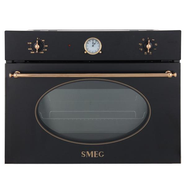 Встраиваемая микроволновая печь Smeg SF4800MA встраиваемый электрический духовой шкаф smeg sf 4120 mcn