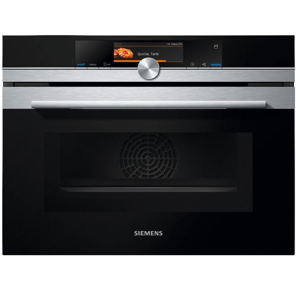 Встраиваемый компактный духовой шкаф Siemens CN678G4S1 сименс siemens компактный выключатель 16a 1p n дважды на входе 5sj30167cr
