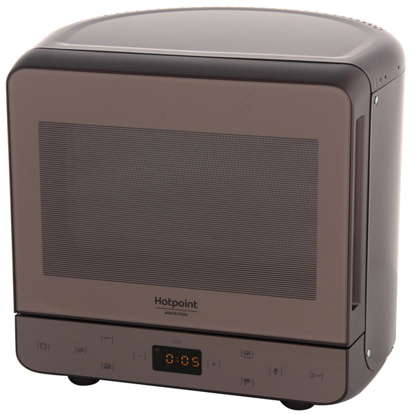 Микроволновая печь с грилем Hotpoint-Ariston MWHA 13321 NOIR lg mb65w95gih white свч печь с грилем