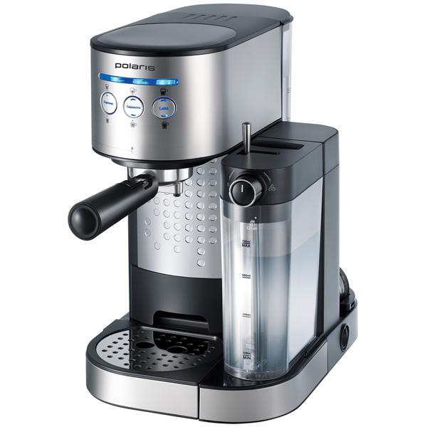 Кофеварка рожкового типа Polaris PCM 1518AE Adore Cappuccino кофеварка polaris pcm 0210 450 вт черный