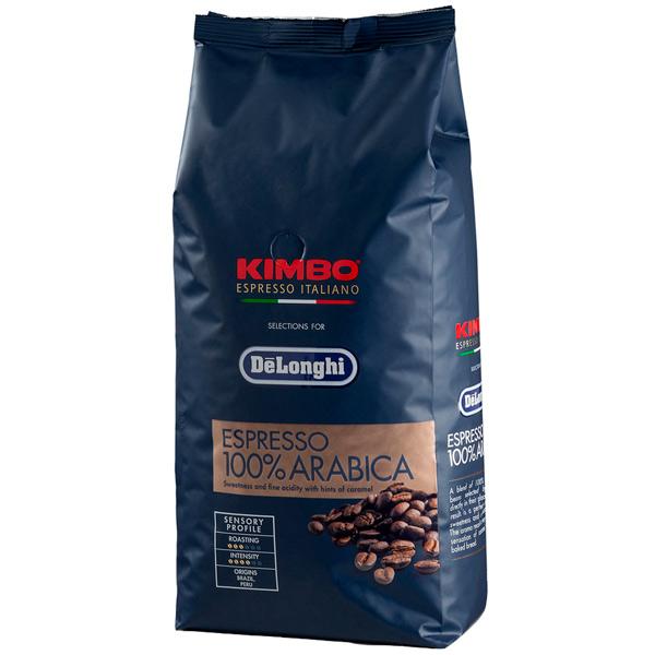 Кофе в зернах Kimbo Delonghi Espresso 100% Arabica 1000 г кофемашина delonghi ecam 45 760 w белый