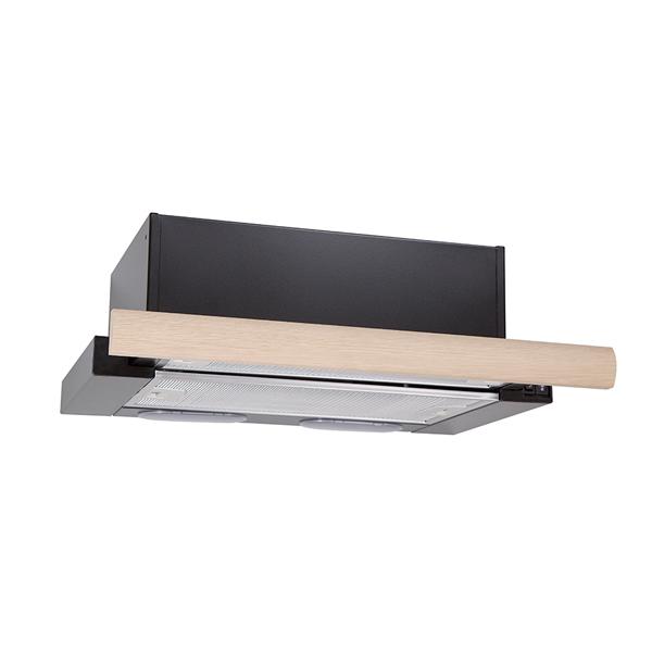 Вытяжка встраиваемая в шкаф 60 см Elikor Интегра 60 Black/Oak unpainted вытяжка elikor графит 60 stainless steel black glass
