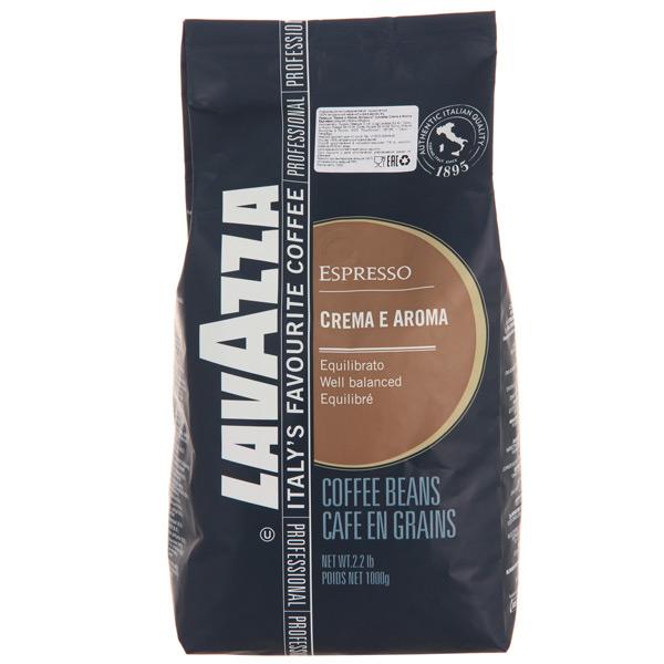 Кофе в зернах Lavazza Crema e Aroma 1000 г кофе в зернах buscaglione euro bar 1кг