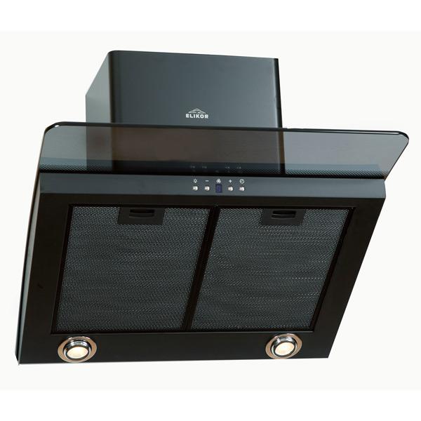 Вытяжка 60 см Elikor Аквамарин 60 Black/Dark Glass вытяжка elikor графит 60 stainless steel black glass