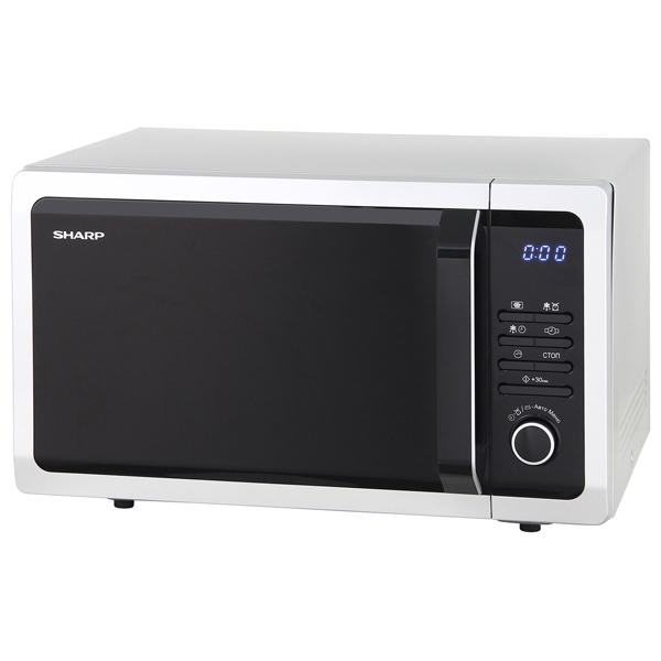 Микроволновая печь соло Sharp R3852RSL микроволновая печь sharp r 2000rw 800 вт белый черный