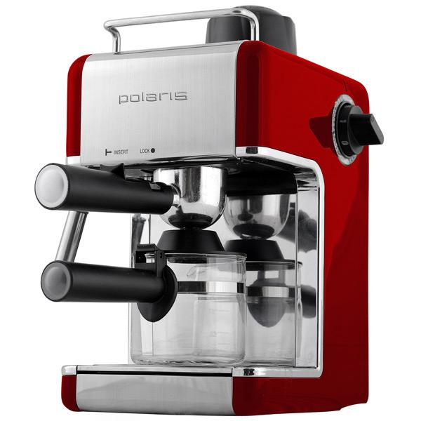 Кофеварка рожкового типа Polaris PCM 4002A кофеварка polaris pcm 0210 450 вт черный