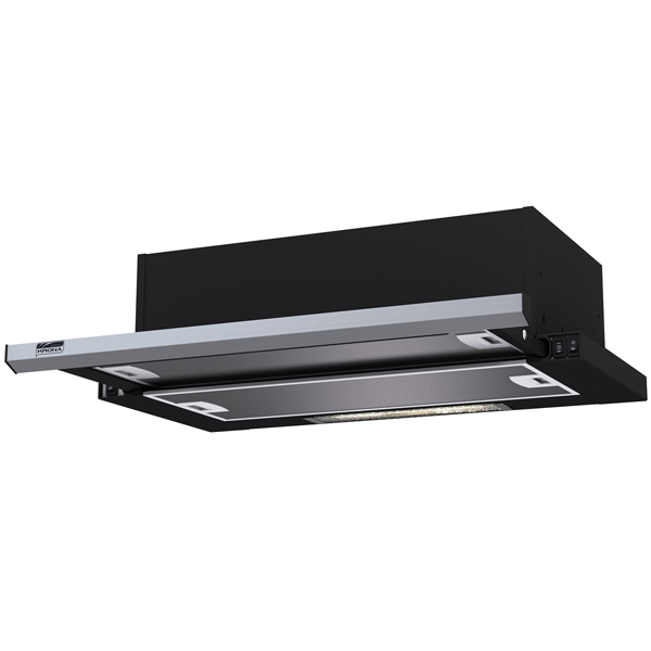 Вытяжка встраиваемая в шкаф 60 см Krona Kamilla slim 600 Black/Inox (2 мотора) вытяжка krona kamilla sensor 600 inox white glass