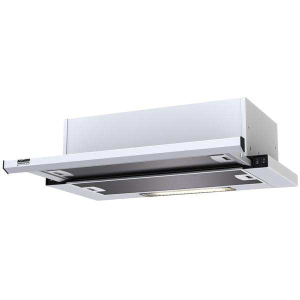 Вытяжка встраиваемая в шкаф 60 см Krona Kamilla slim 600 White (2 мотора) вытяжка krona kamilla sensor 600 inox white glass