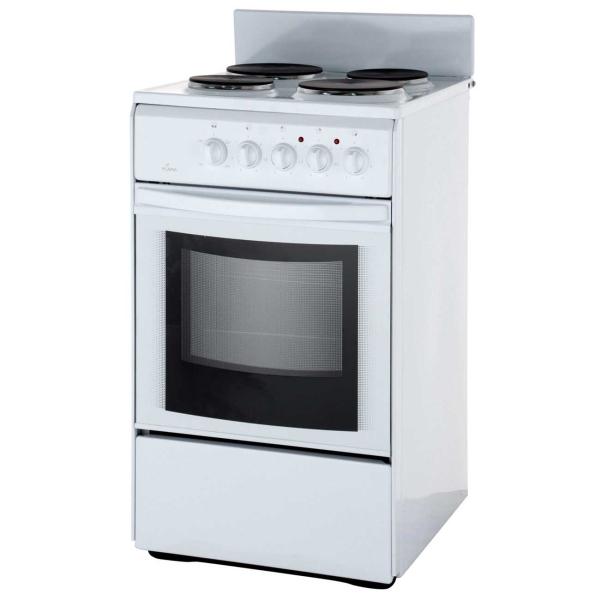 Электрическая плита (50-55 см) Flama AE 1402 White