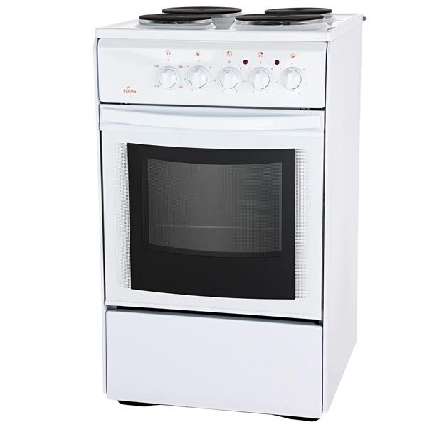 Электрическая плита (50-55 см) Flama AE 1403 White