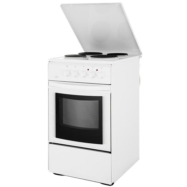 Электрическая плита (50-55 см) Flama AE 1401 White