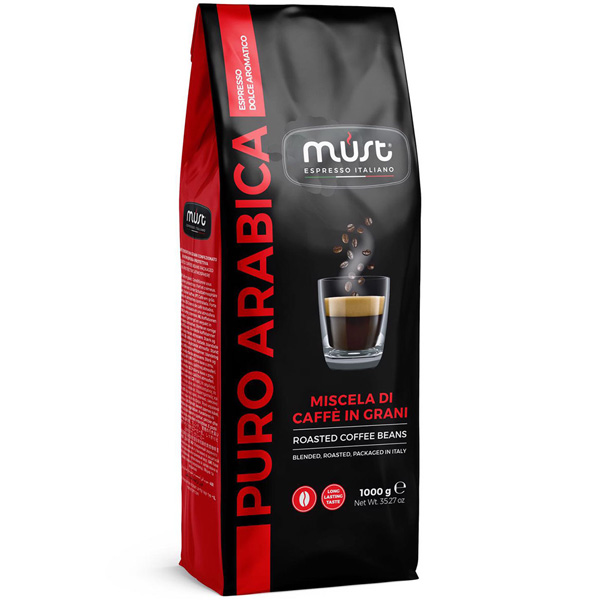 Кофе в зернах Must Pure Arabica 1000 г кофе parenti кофе в зернах