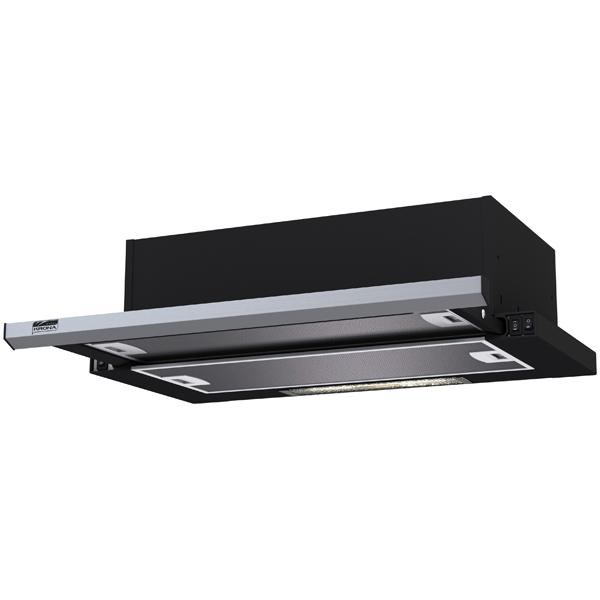 Вытяжка встраиваемая в шкаф 60 см Krona Kamilla slim 600 Black/Inox (1 мотор) вытяжка 60 см krona monika 600 inox