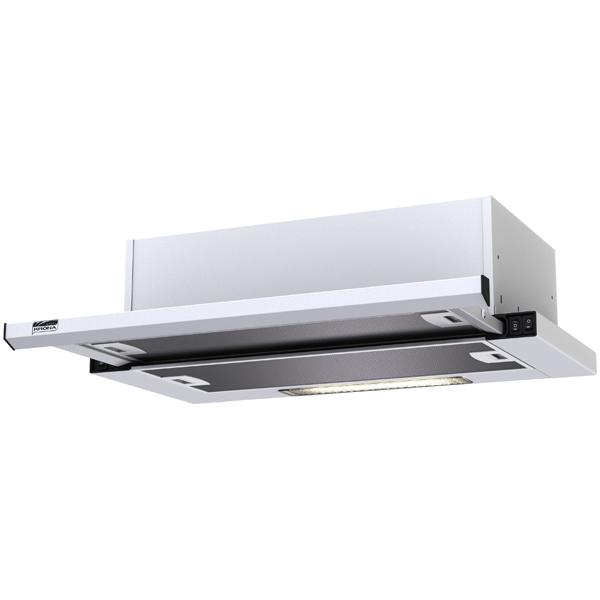 Вытяжка встраиваемая в шкаф 60 см Krona Kamilla slim 600 White (1 мотор) вытяжка krona kamilla sensor 600 inox white glass