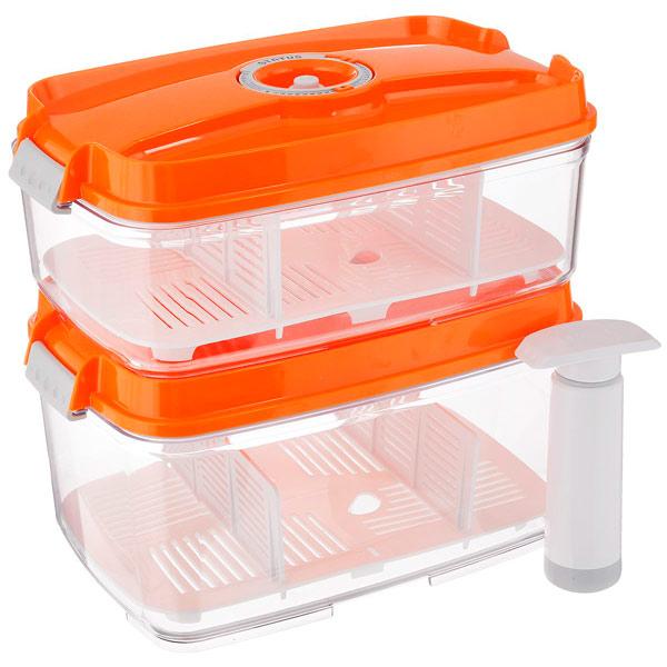 Контейнер для вакуумного упаковщика Status VAC-REC-Bigger Orange контейнер вакуумный status цвет прозрачный белый 500 мл vac rec 05