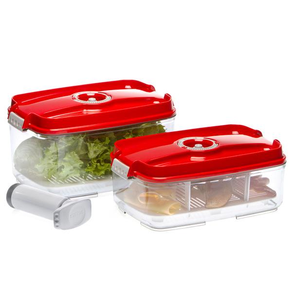 Контейнер для вакуумного упаковщика Status VAC-REC-Bigger Red контейнер вакуумный status цвет прозрачный белый 500 мл vac rec 05