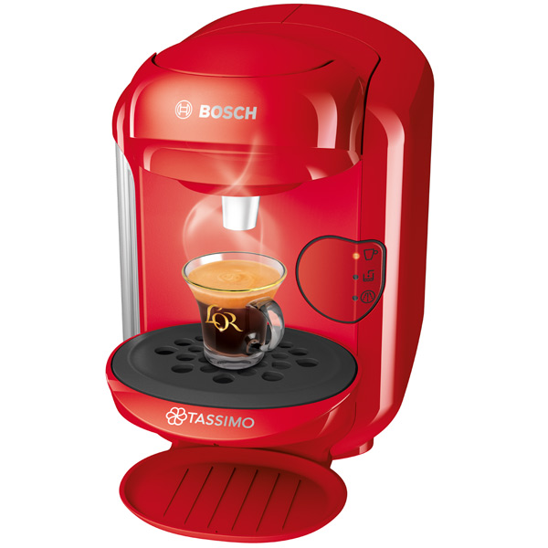Кофеварка капсульная Bosch Tassimo VIVY II красная (TAS1403)
