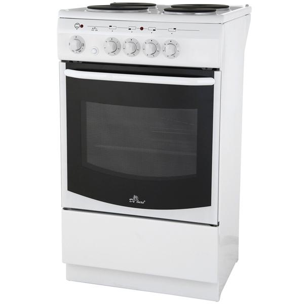 Электрическая плита (50-55 см) De Luxe 5004.14э бел.