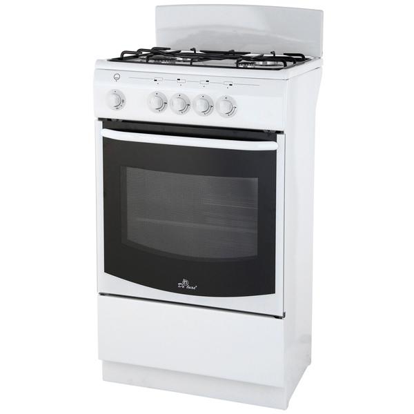 Газовая плита (50-55 см) De Luxe 5040.35г(щ)бел. чаша горошек 2 л бел син 1150426