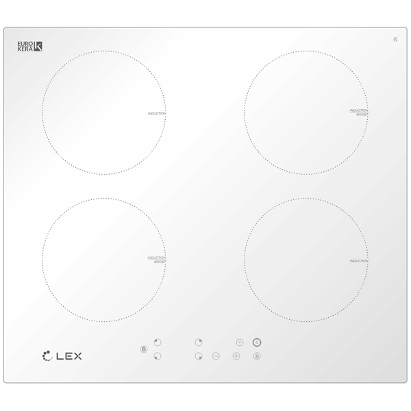 Встраиваемая индукционная панель LEX EVI 640-1 WH
