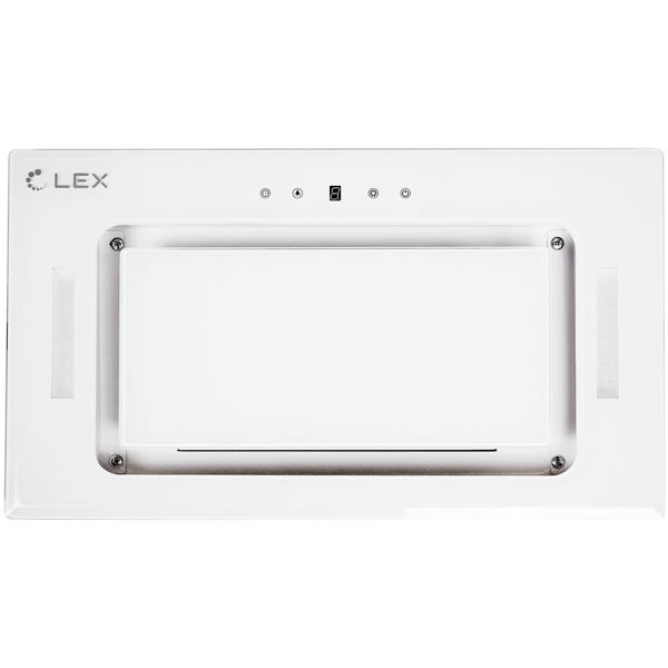 Вытяжка полностью встраиваемая LEX GS GLASS 900 WHITE