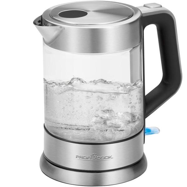 Электрочайник Profi Cook PC-WKS 1107 G (501107) чайник profi cook pc wks 1020 g 3000 вт 1 7 л металл стекло прозрачный
