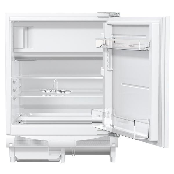 Встраиваемый холодильник комби Korting