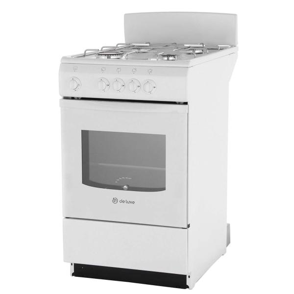 Газовая плита (50-55 см) De Luxe 5040.38Г(Щ) White