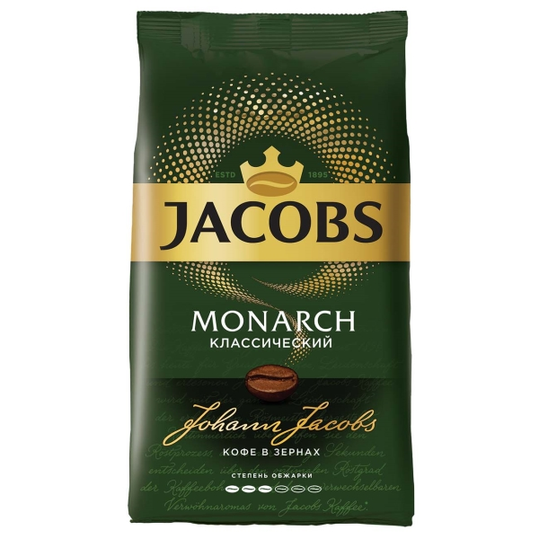Кофе в зернах Jacobs Классический 1кг зеленого цвета