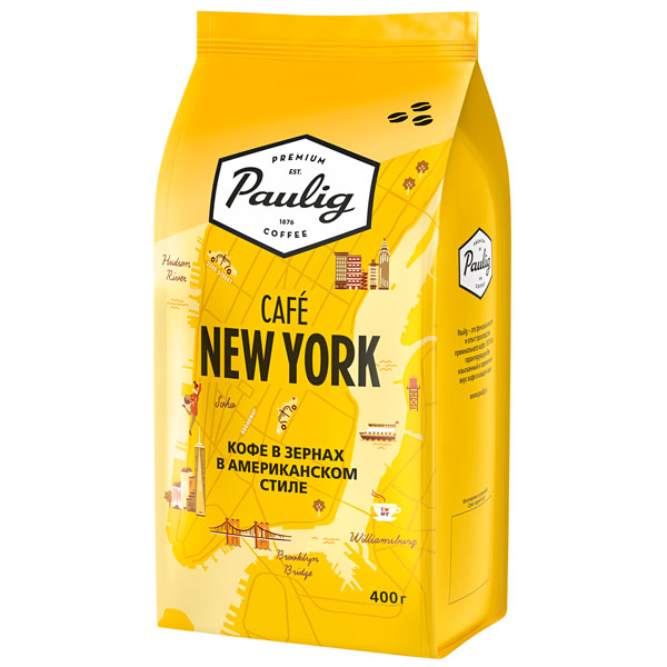 Кофе в зернах Paulig City Coffees Cafe New York bean 400g