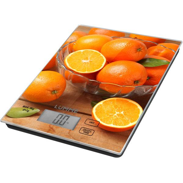 Весы кухонные Lumme LU-1342 Апельсиновый фреш