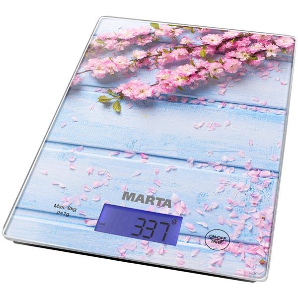 Весы кухонные Marta MT-1633 Весенние цветы