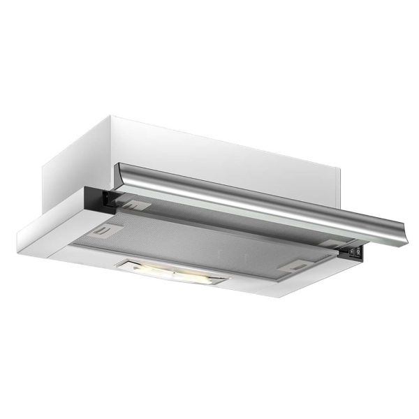 Вытяжка встраиваемая в шкаф 60 см Elikor Нейтрино 60 White/Inox