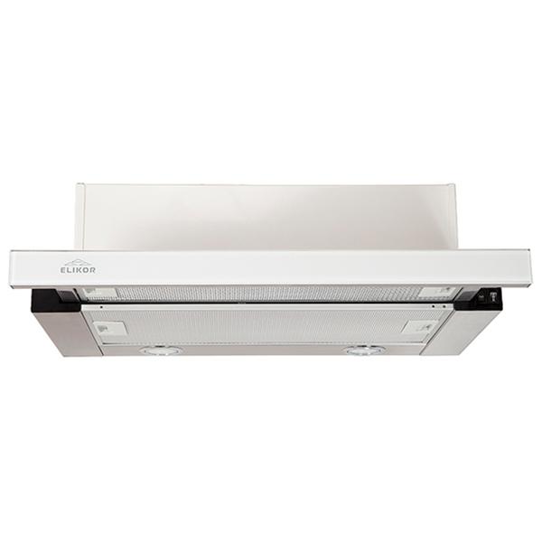 Вытяжка встраиваемая в шкаф 60 см Elikor Интегра GLASS 60 Inox/White Glass