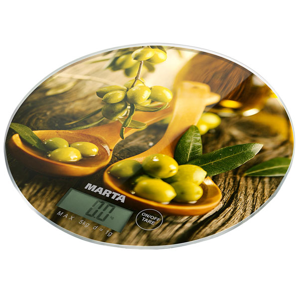 Весы кухонные Marta MT-1635 олива