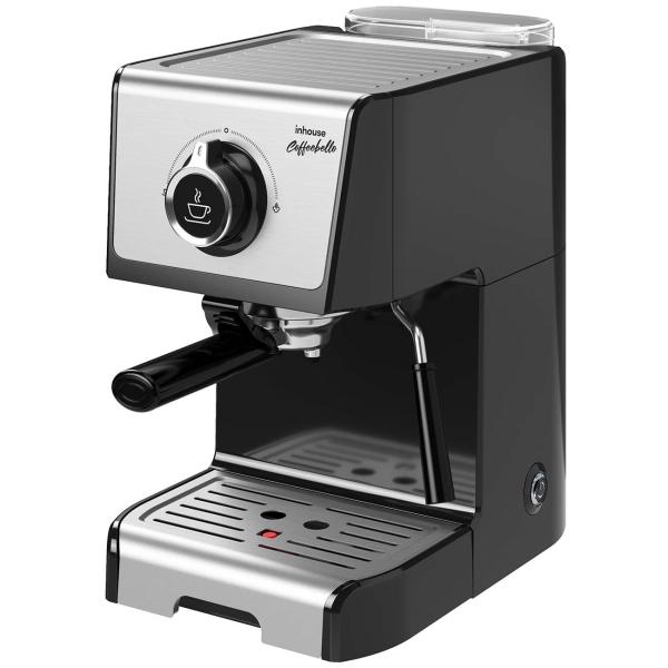 Кофеварка рожкового типа Inhouse Coffeebello ICM1801BK Black