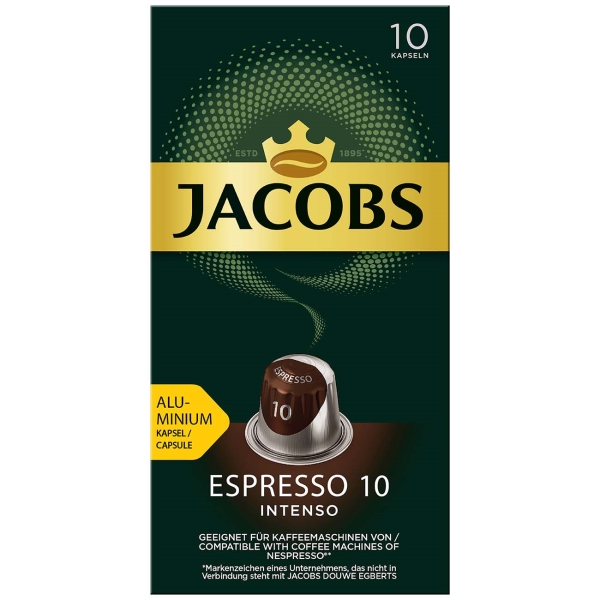 Кофе в капсулах Jacobs Espresso 10 Intenso