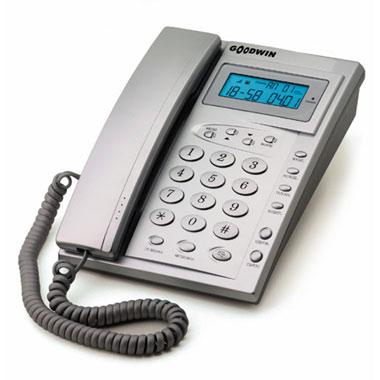 Телефон проводной Goodwin Азов TSV-2 с АОН Silver