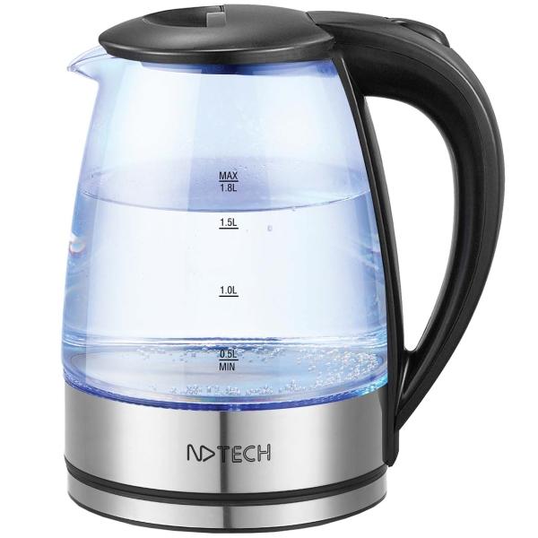 Электрочайник NDTech EK055 цвет черный/серебристый