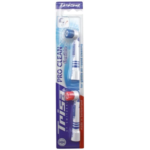 Насадка для электрической щетки Trisa для моделей Pro Clean, 2 шт. 659215-Red-Blue Trisia