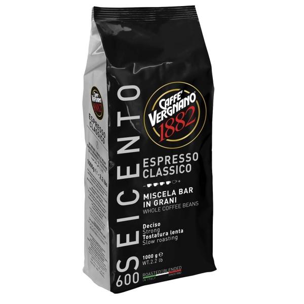 Кофе в зернах Vergnano Espresso 600, 1000 г кофе в зернах paulig espresso arabica italiano арабика 1000 г