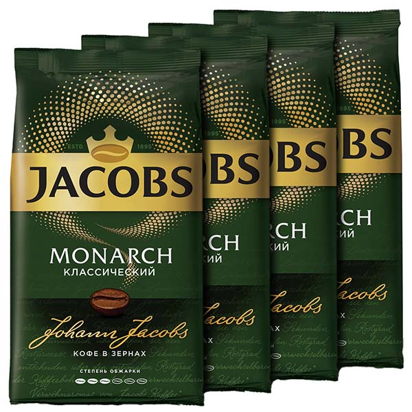 Кофе в зернах Jacobs Mon classic 4 шт.