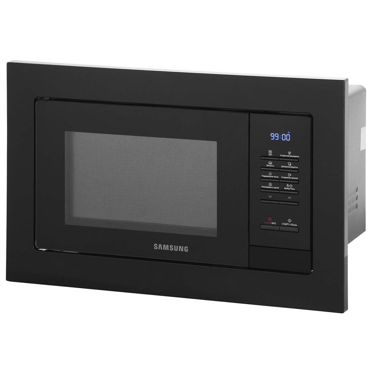 встраиваемая микроволновая печь Samsung Ms20a7013ab черный купить