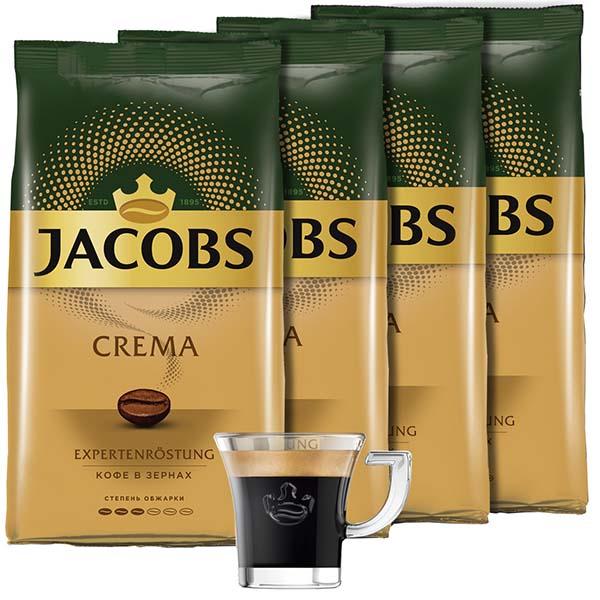 Кофе в зернах Jacobs Crema зерна 4 шт.