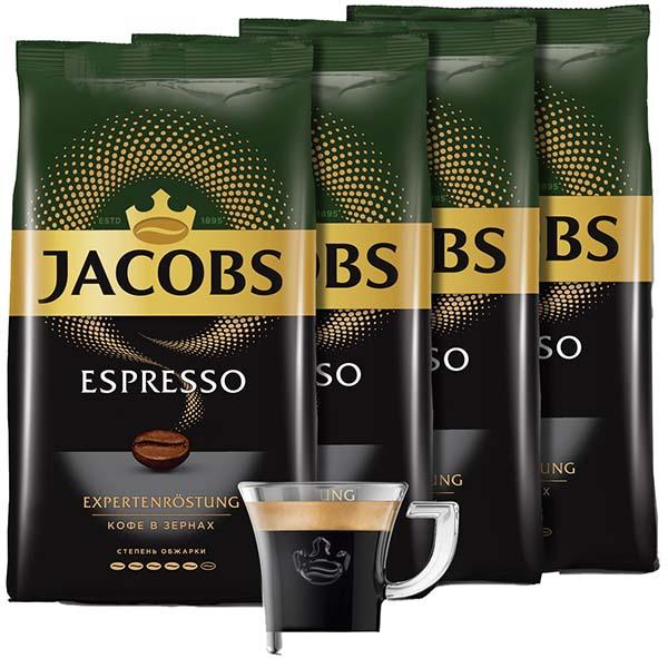 Кофе в зернах Jacobs Espresso зерна 4 шт.